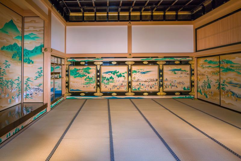Interior of Honmaru Palace of Nagoya Castle. NAGOYA, JAPAN - APRIL 19: Interior of Honmaru Palace of Nagoya Castle on April 19, 2018 stock photos