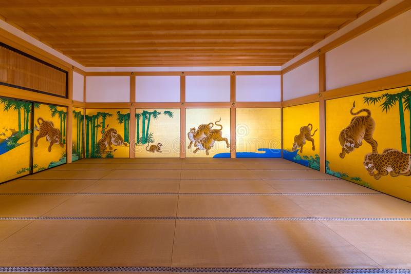 Interior of Honmaru Palace of Nagoya Castle. NAGOYA, JAPAN - APRIL 19: Interior of Honmaru Palace of Nagoya Castle on April 19, 2018 royalty free stock images