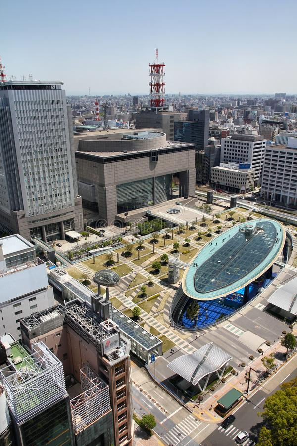 Nagoya, Japan. APRIL 28, 2012: Oasis 21 bus station and shopping centre in . Nagoya is the 4th largest city in Japan with population of 2.28 million royalty free stock photography