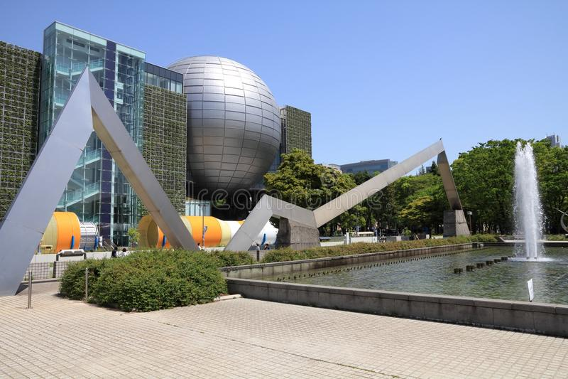 Nagoya, Japan. APRIL 28, 2012: Space rocket in front of Nagoya City Science Museum in . According to Tripadvisor, it is currently among top 10 places worth royalty free stock photos
