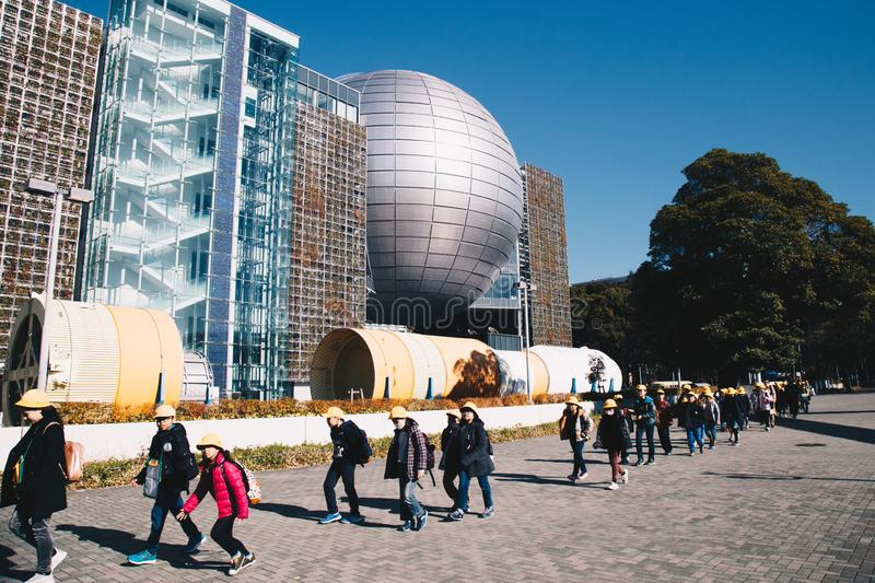 Nagoya city Science Museum, Nagoya, Japan. Nagoya, Japan - December 2018 : Building of Nagoya city Science Museum, featuring the world`s largest dome screen and royalty free stock image