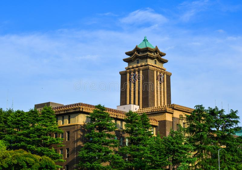 Oriental style modern building royalty free stock image