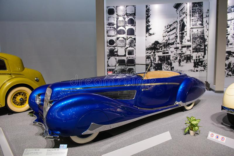 Nagoya, Japan - March 29, 2015 : Delage Type D8-120 displayed at Toyota Automobile Museum.  stock photography