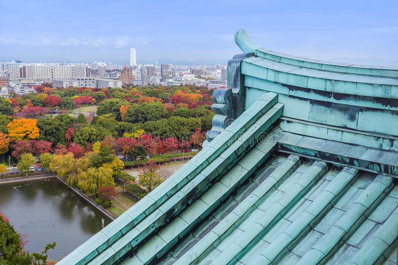 Nagoya, Japan - November 21 2013: Nagoya is a huge, rapidly developing city with the fourth largest population in Japan. Nagoya is a huge, rapidly developing stock photo