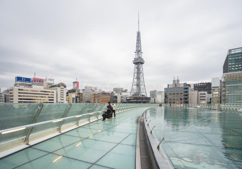 Nagoya, Japan - November 21,2016. Roof Floor of Oasis 21, Oasis. 21 is a modern facility located adjacent to Nagoya TV Tower in Sakae, contains restaurants stock image