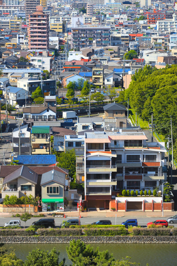 NAGOYA,JAPAN. SEPTEMBER 13: Nagoya cityscape on September 13,2014, Is third largest metropolitan area in Japan, Area`s population is about 8.74 million people royalty free stock photography