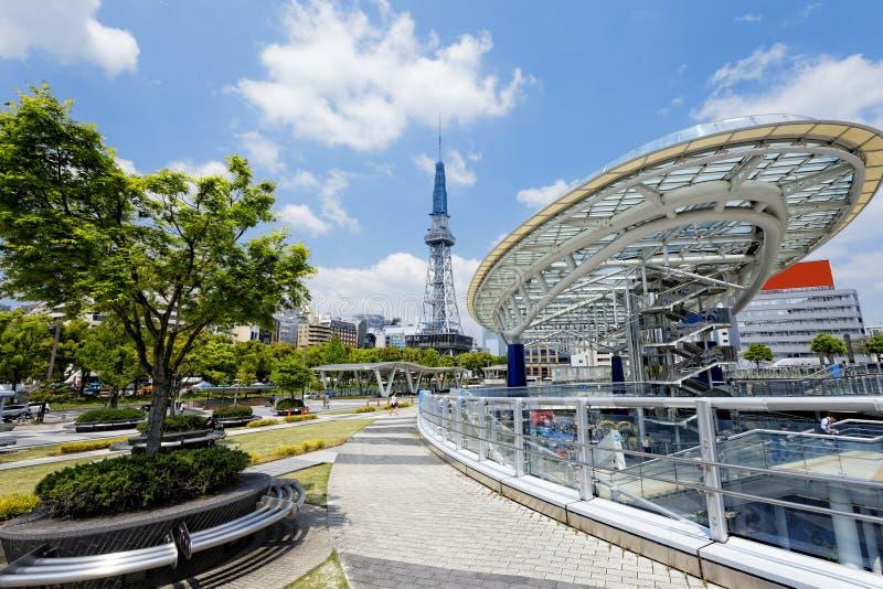 Nagoya landmark. Nagoya, Japan city skyline with Nagoya Tower stock photography