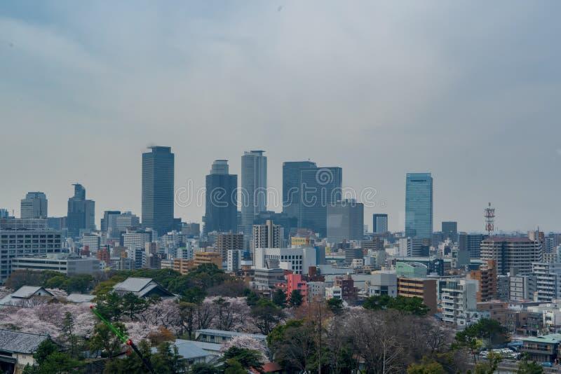 Nagoya linia horyzontu podczas dnia fotografia stock