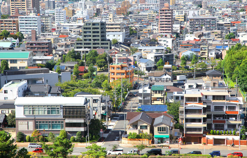 Nagoya miasta widok z lotu ptaka obraz stock