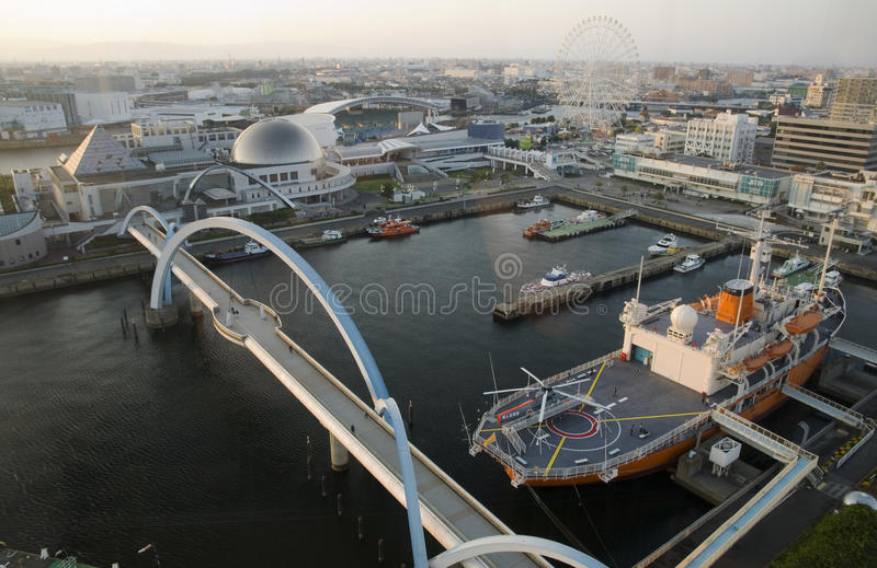Nagoya Port, Japan stock image