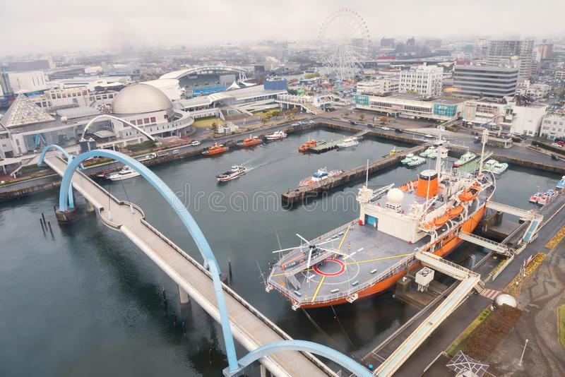 Nagoya port by top view, Japan royalty free stock photography