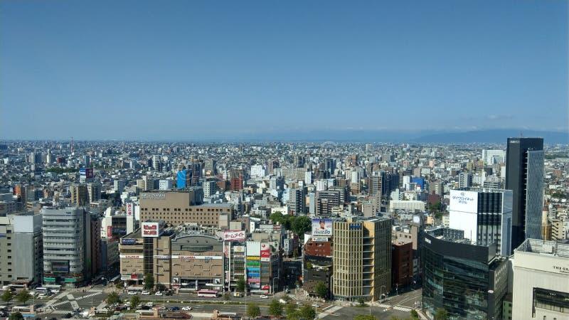 Nagoya stad i morgon royaltyfri fotografi