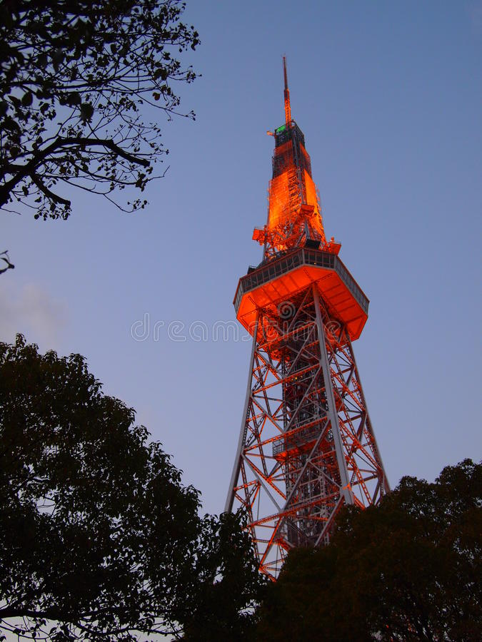 Download Nagoya TV Tower 2 stock image. Image of tower, japan - 30528429