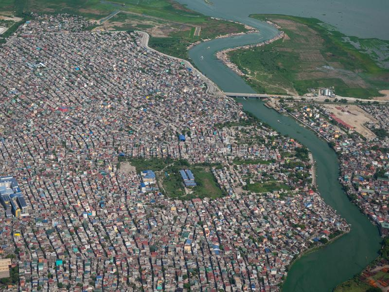 Nagpayong, ville de Pasig, les Philippines photo stock
