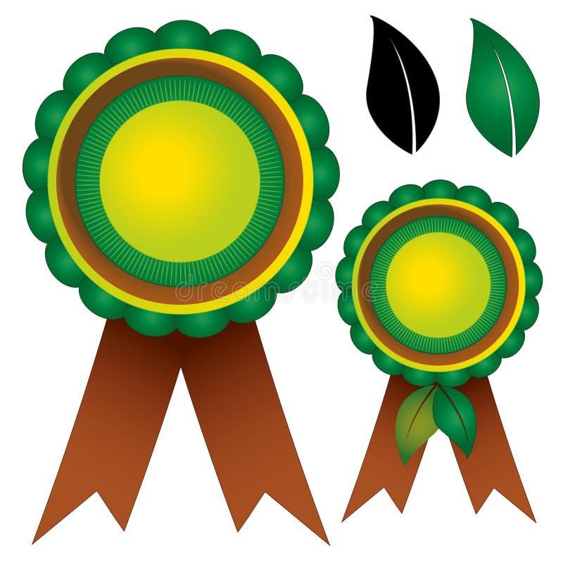 Nagród różyczek tasiemkowa natura royalty ilustracja