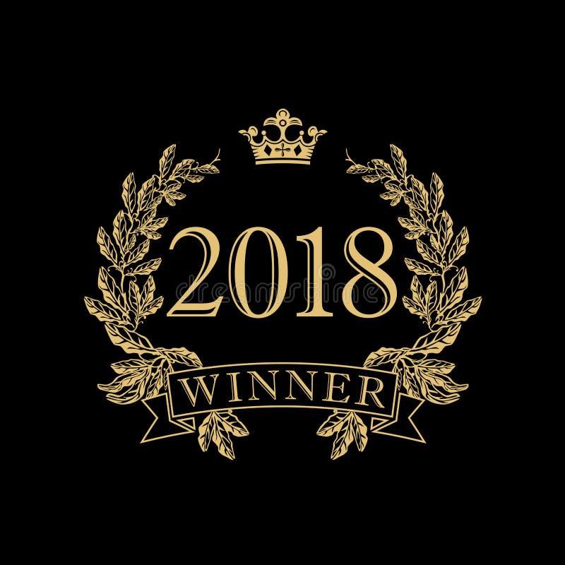 2018 nagród Rocznika wektoru logotyp ilustracji