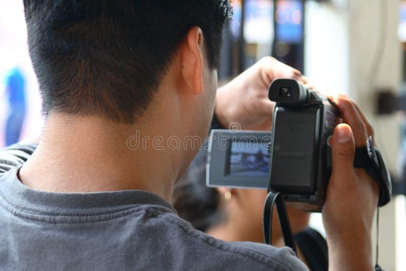 nagrać rodzinnego człowieka fotografia stock