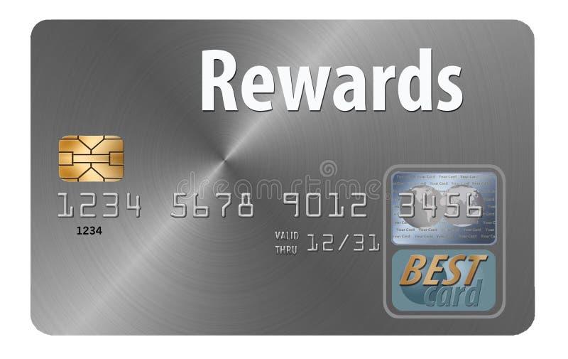 nagradza kartę kredytową royalty ilustracja