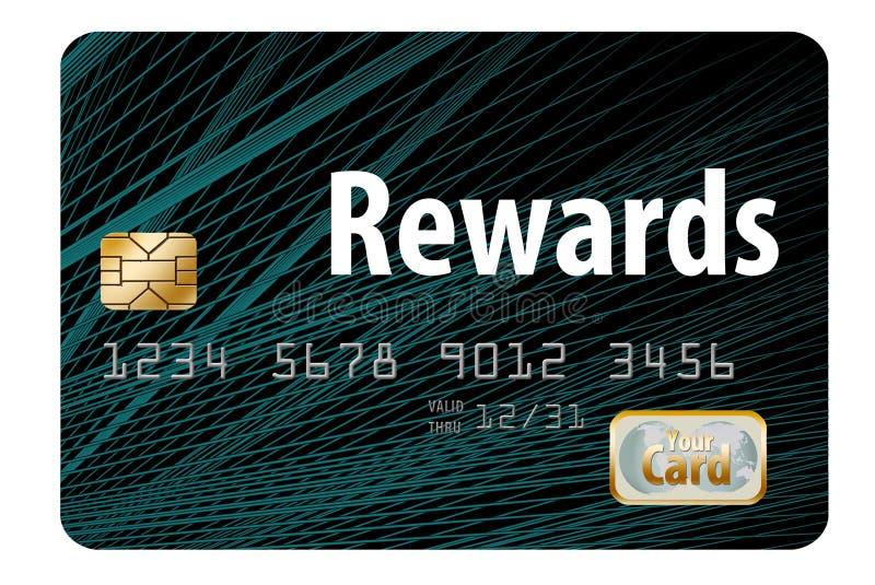 nagradza kartę kredytową ilustracji