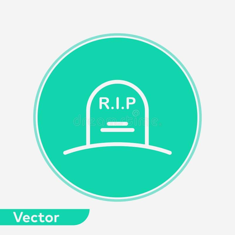 Nagrobek ikony znaka wektorowy symbol ilustracji