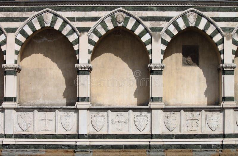 Nagrobkowe niszy w Florencja fotografia royalty free