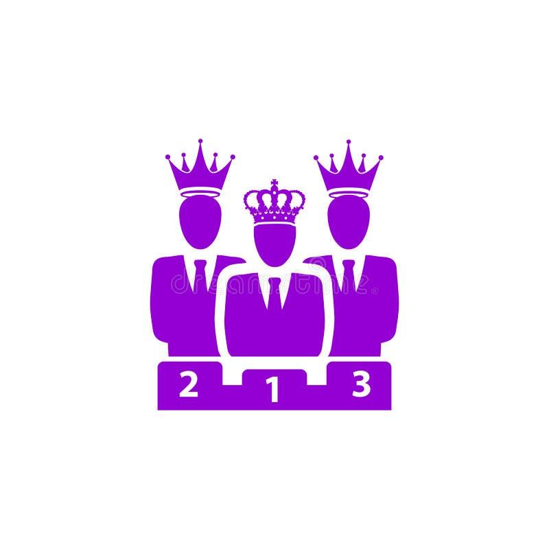 Nagroda, biznes kategoria, sukces, drużyna, zwycięzca, korona na kierowniczej fiołkowej kolor ikonie ilustracji