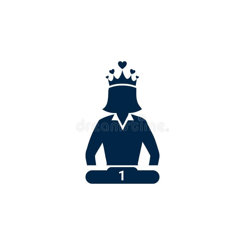 Nagroda, biznes kategoria, sukces, drużyna, zwycięzca, korona na kierowniczej ikonie ilustracji