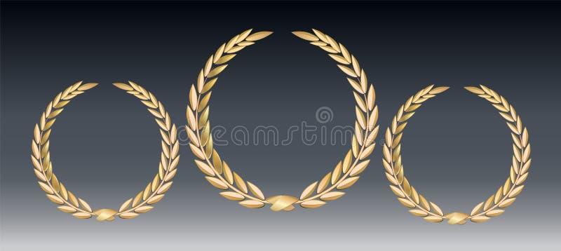 Nagroda bobek odizolowywający na przejrzystym tle Zwycięzcy szablon Symbol zwycięstwo i osiągnięcie bobka piękny złocisty ilustra royalty ilustracja