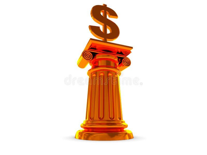 nagroda dolar ilustracja wektor
