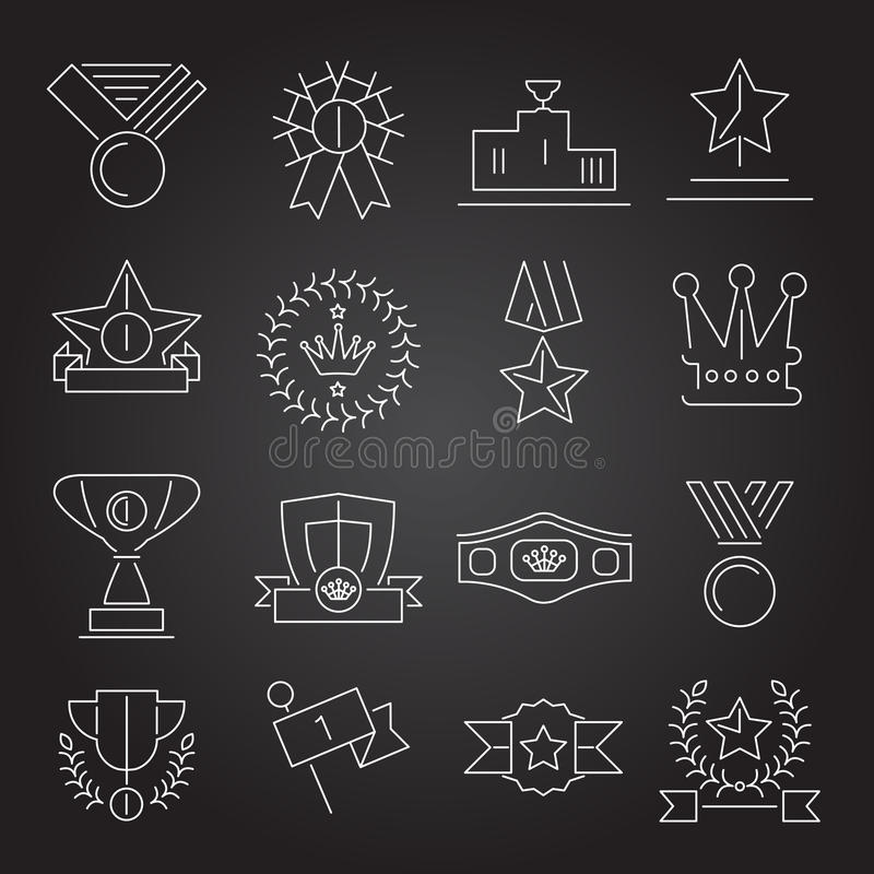 Nagroda ikona ustawiający kontur royalty ilustracja