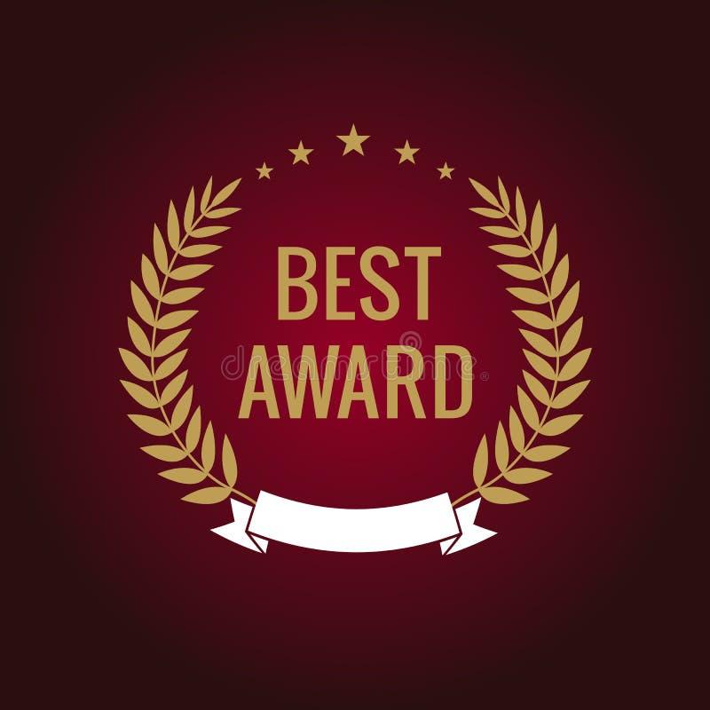 Nagroda logotypu retro 5 pięć gwiazd royalty ilustracja