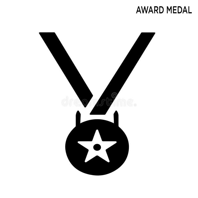 Nagroda medalu ikona ilustracji