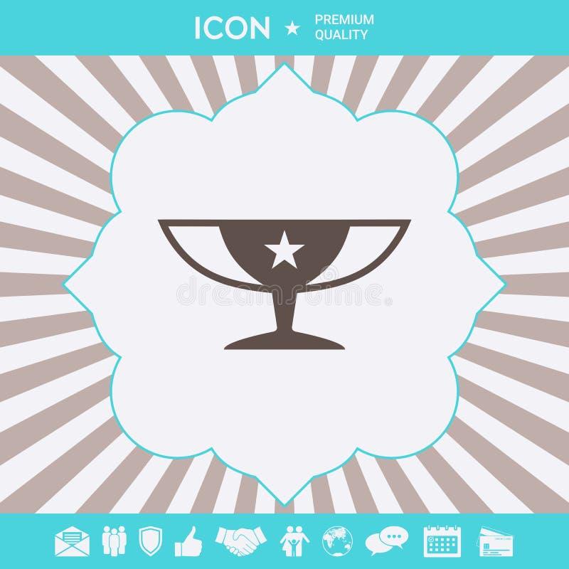 Nagroda mistrzów filiżanki ikona z gwiazdą Graficzni elementy dla twój projekta ilustracja wektor