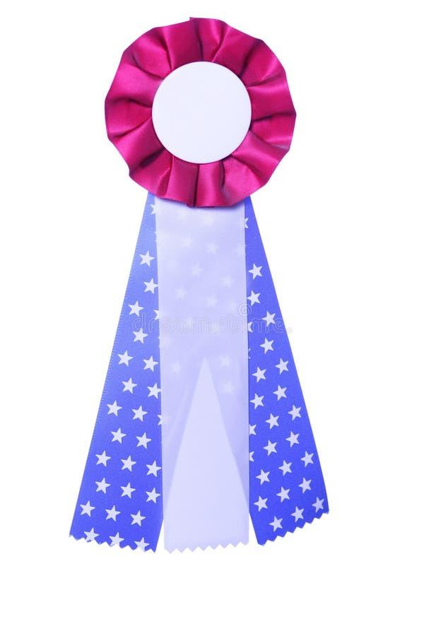 nagroda niebieski patriotyczny czerwony tasiemkowy white zdjęcia royalty free