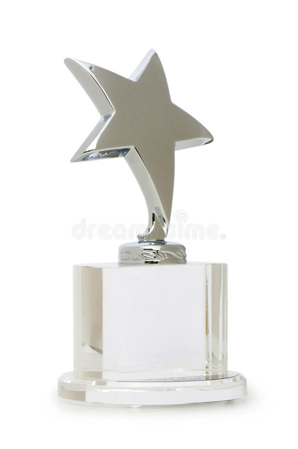 Nagroda Odizolowywająca Gwiazda Zdjęcia Stock