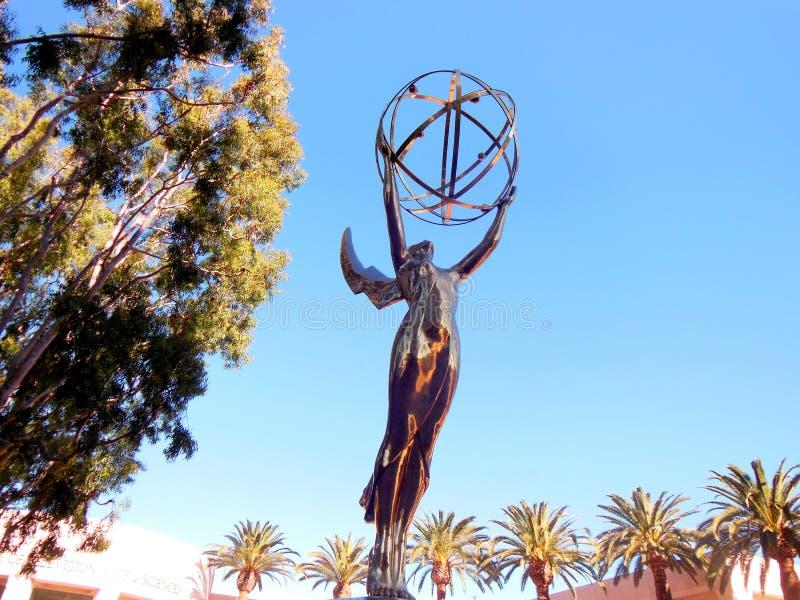 Nagrody Emmy statua fotografia stock