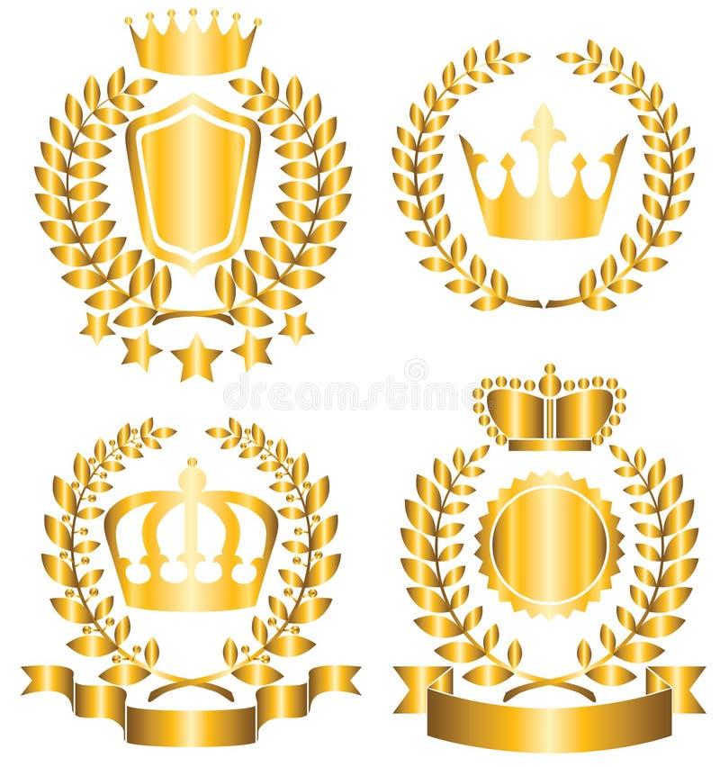 Nagrody etykietka royalty ilustracja
