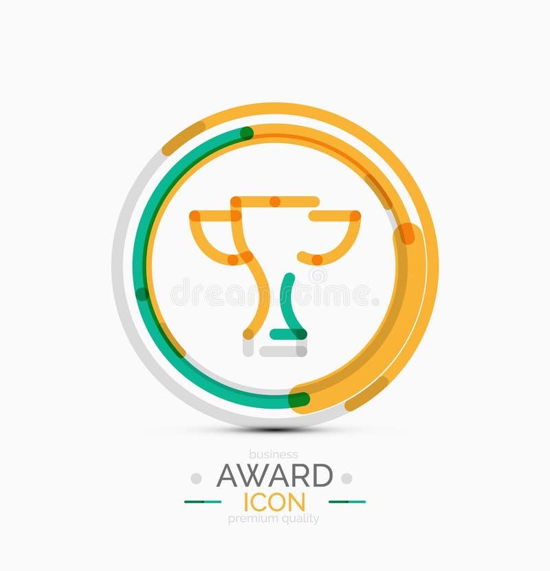 Nagrody ikona, logo royalty ilustracja