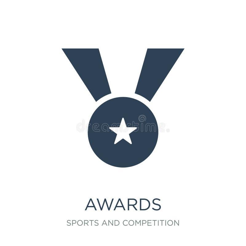 nagrody ikona w modnym projekta stylu nagradza ikonę odizolowywającą na białym tle nagrody wektorowej ikony prosty i nowożytny pł ilustracji
