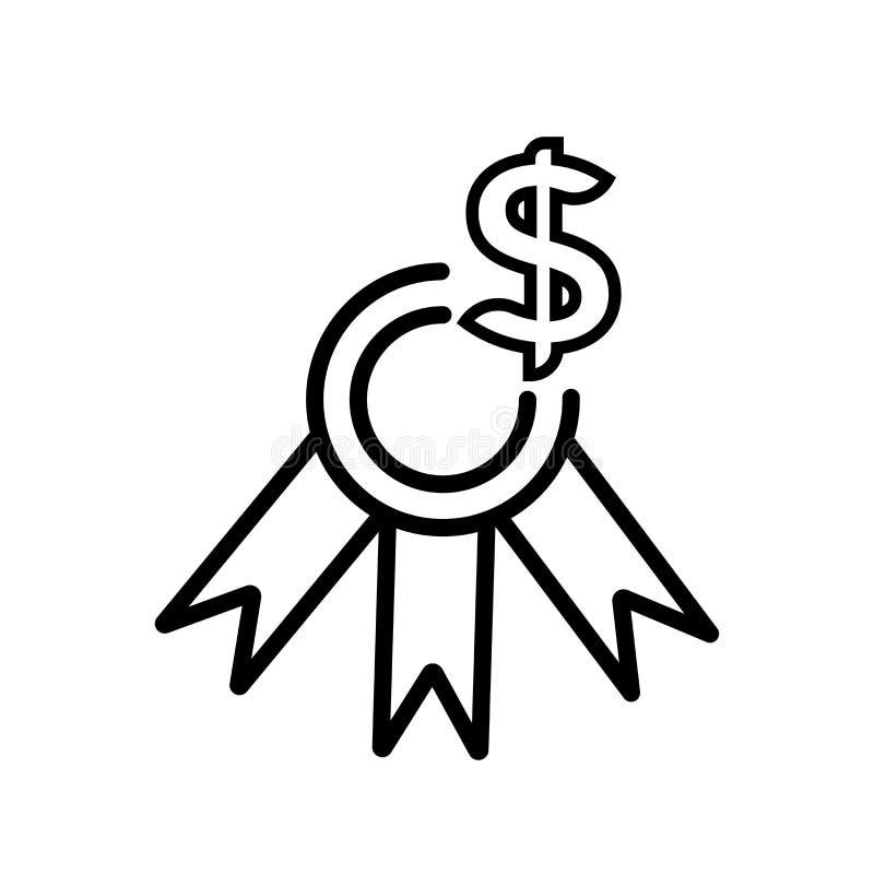 Nagrody ikony wektoru znak i symbol odizolowywający na białym tle ilustracji