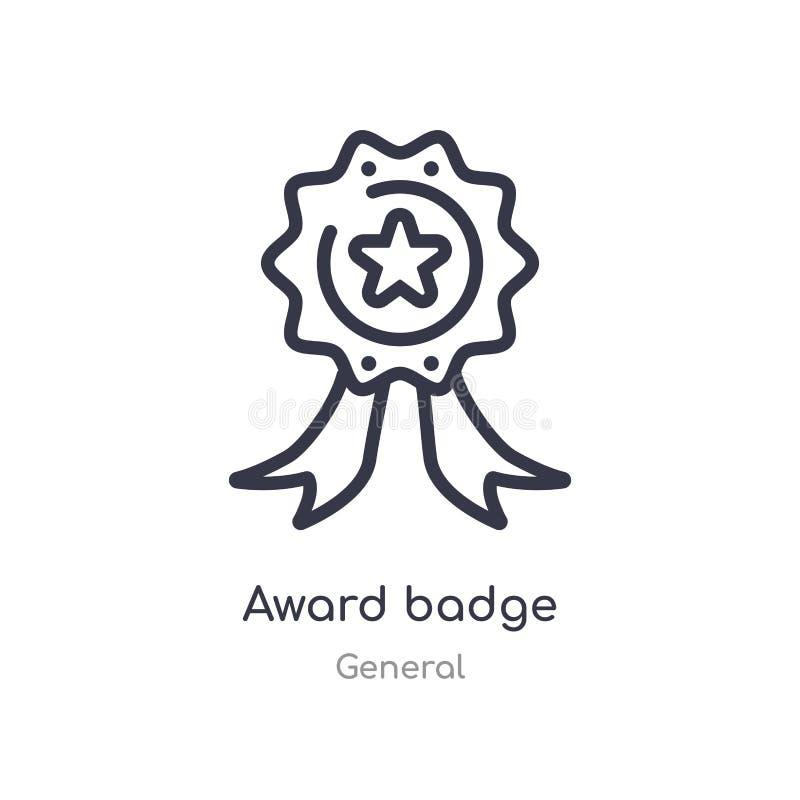 Nagrody odznaki konturu ikona odosobniona kreskowa wektorowa ilustracja od og?lnej kolekcji editable cienka uderzenie nagrody odz ilustracji