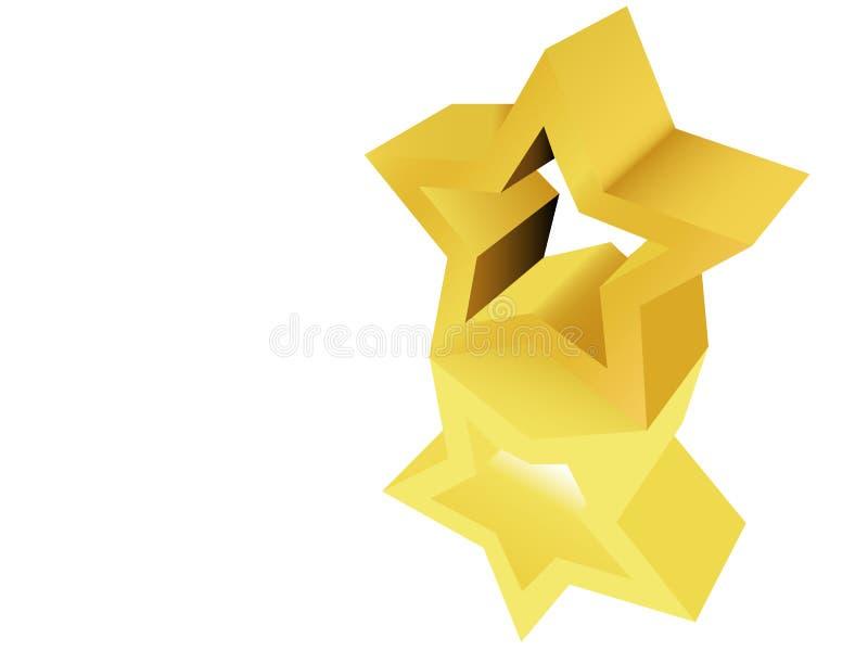nagrody rzeźby gwiazdy złoty posąg royalty ilustracja