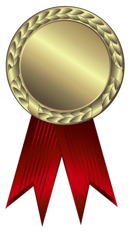 nagrody złota faborki royalty ilustracja