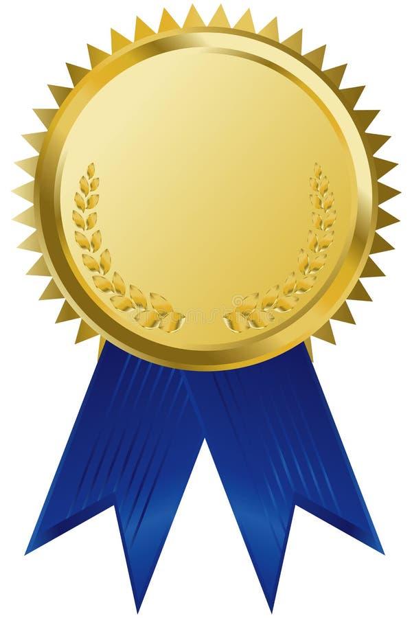 nagrody złota wstążki royalty ilustracja
