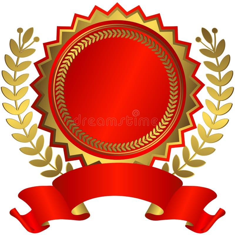 nagrody złoty czerwony faborku wektor ilustracja wektor