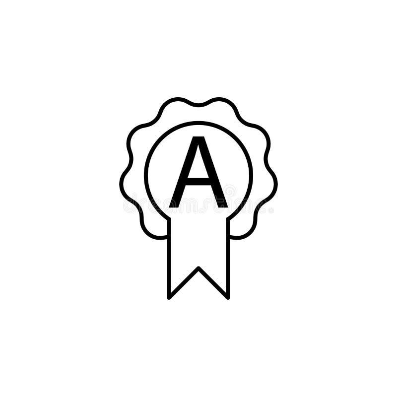 nagrodzona cenienia A ikona Element sieci ikona dla mobilnego pojęcia ilustracji