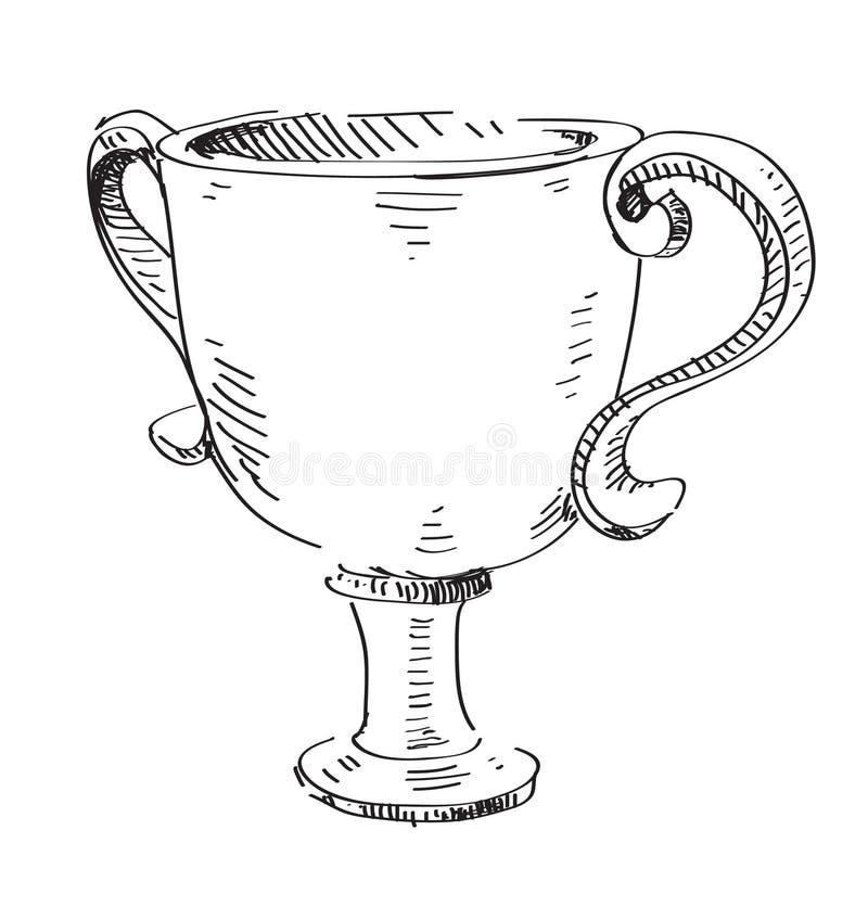 Nagrodzona trofeum ikona ilustracji