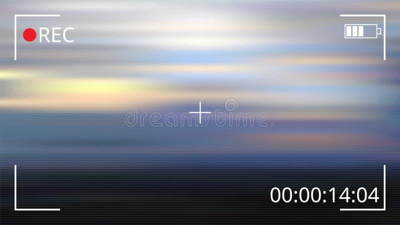 Nagrywanie wideo interfejs również zwrócić corel ilustracji wektora ilustracji