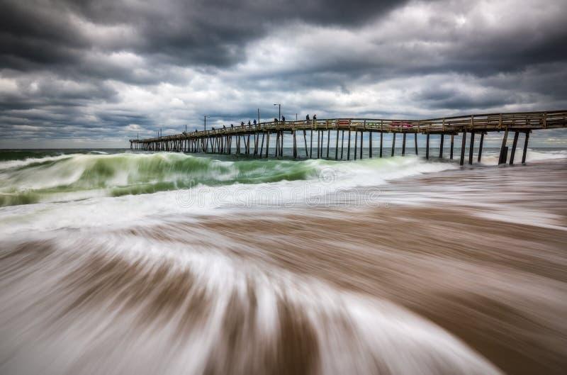 Nags Head Beach Outer Banks Coastal North Carolina Ocean Scenic Seascape Photography royalty free stock images
