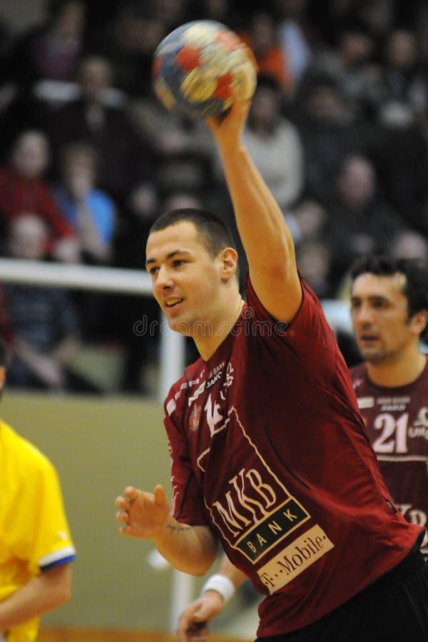 Nagyatad contra o jogo do handball do veszprem fotos de stock
